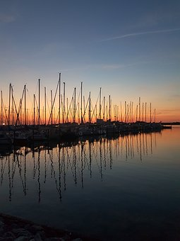 Marina, Ship, Sea, Sky, Water, Yacht, Mood, Clouds