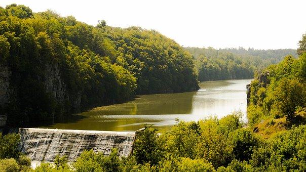 Ukraine, Zhitomir, Waterfall, Summer, Landscape, Nature