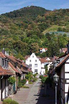 Zwingenberg, Melibokus, Historic Center, Shy Alley