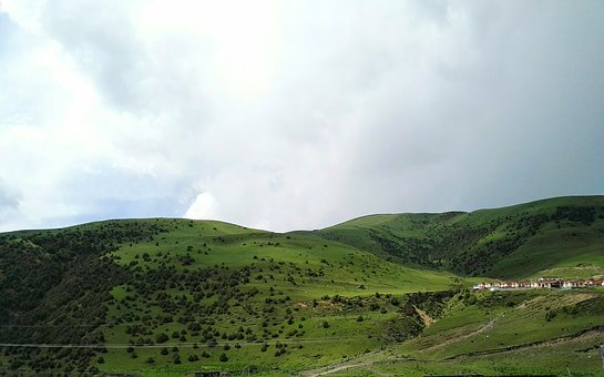 Grassland, Altitude Height, Alpine Meadows, Cloudy Day