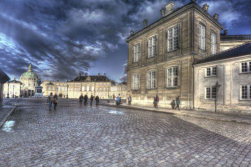 Castle, Clouds, Engineer, Architecture, Paving Stones