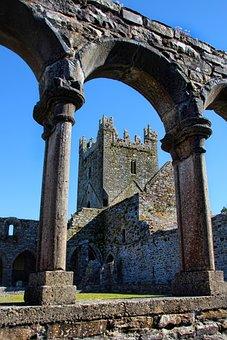 Ireland, Monastery, Architecture, Jerpoint Abbey, Abbey