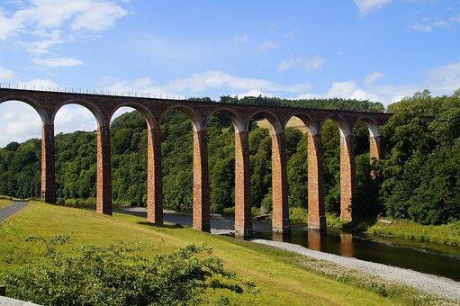 Viaduct, Scotland, Architecture, Landscape, Bridge