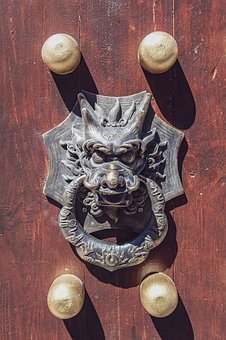 Handle, Chinese, Dragon, Building, Asian, Architecture