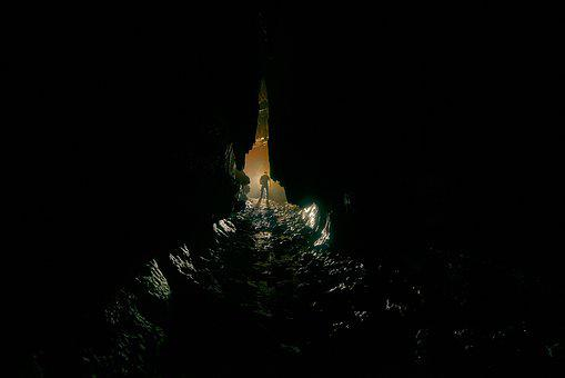 River, Underground, Backlighting, Potholing, Cave, Gulf