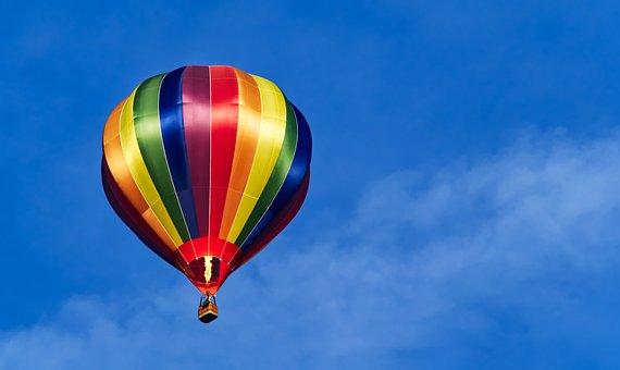 Balloon, Hot, Air, Flight, Fly, Colour, Color, Stripe