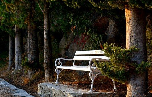 Bench, Arbor, Arbour, Seat, Sidewalk, Tranquil