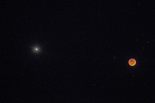 Moon, Bloedmaan, Heaven, Celestial Body, Mars, Planet