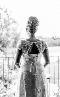 Wedding, Dress, Bride, Woman, Love, Girl, White, Adults