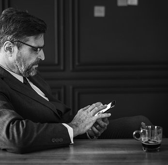 Black And White, Business, Businessman, Checking