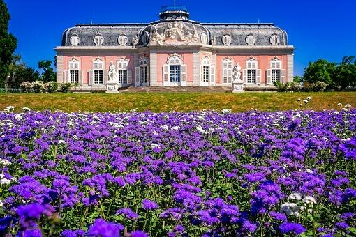 Castle, Park, Flowers, Splendor, Places Of Interest