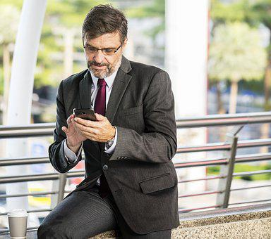 Business, Businessman, Chatting, Checking, Connected