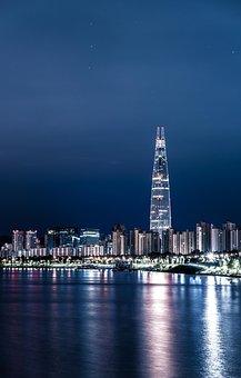Seoul, Night View, City, Han River
