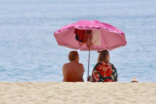 Couple, Beach, Love, Ocean, Sea, People, Water