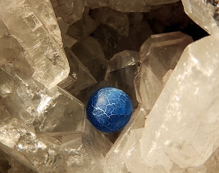 Crystal, Sphere, Earth, Macro, Agate, Blue