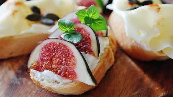 Fig, Cheese, Cream Cheese, Bread, Baguette, Eat