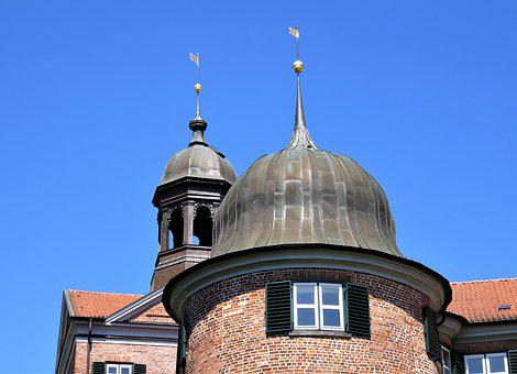 Castle, Castle Towers, Bell Tower, Weather Cocks, Eutin