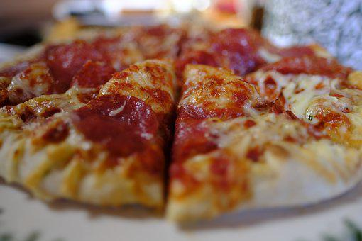 Pizza, Eat, Lunch, Food, Meal, Nutrition