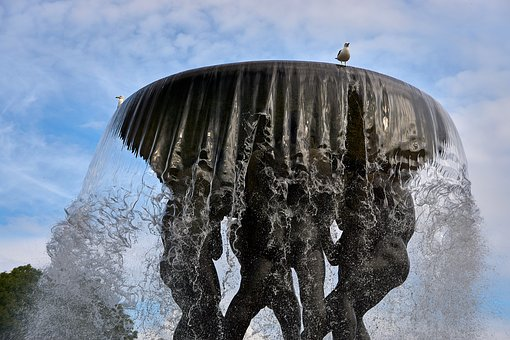 Fountain, Water, Fountain City, Water Feature, Wet
