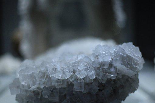 Crystal, Nature, Blue, Winter, Cold, Stone, Frost, Ice