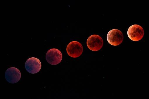 Blood Moon, Moon, Night, Full Moon, Moonlight, Lighting