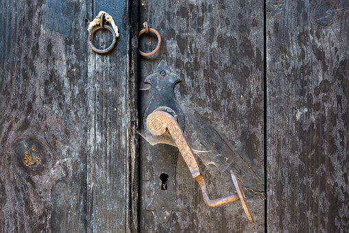 Door, Handle, Castle, Ring, Metal, Old, Gate