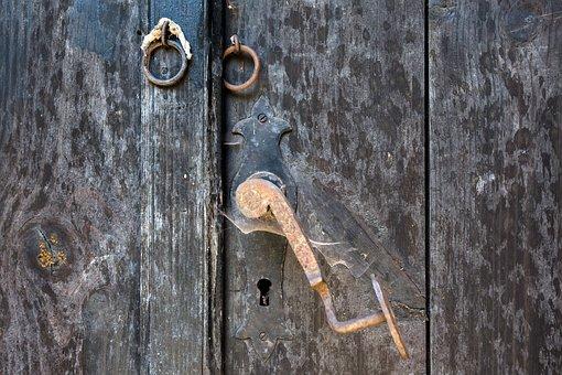 Door, Handle, Castle, Ring, Metal, Old, Gate