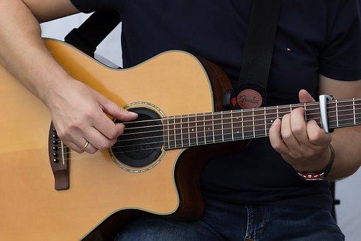 Guitar, Play, Hands, Music, Instrument, Musician
