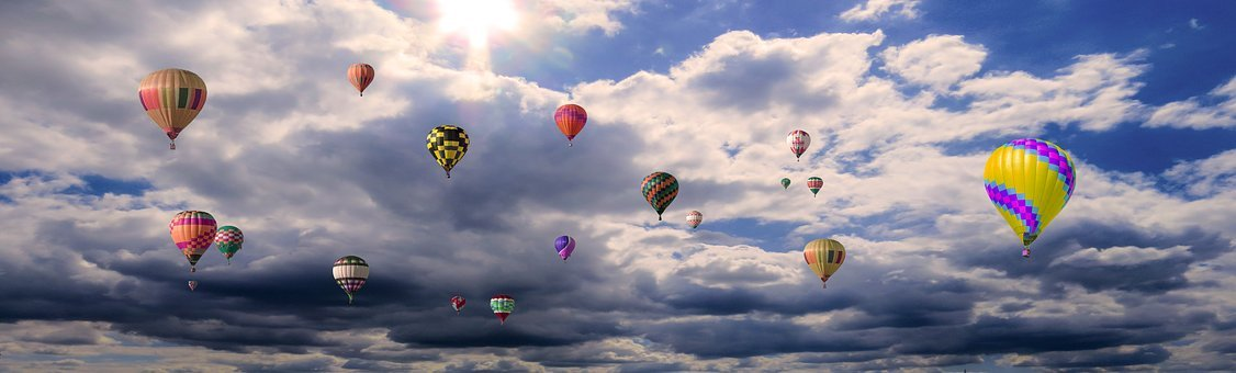 Emotions, Holidays, Vacations, Clouds, Balloon