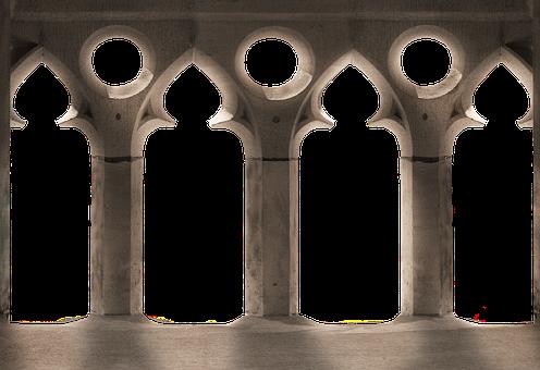 Balcony, Gothic, Isolated, Columnar, Church