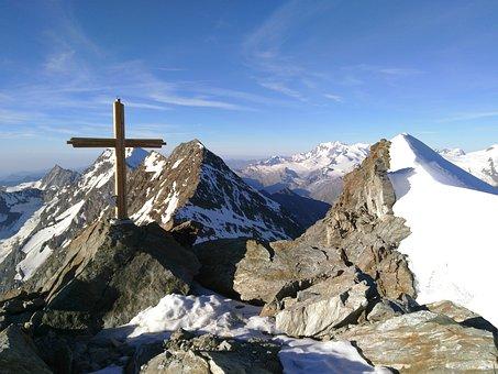 Lagginhorn, Fletschhorn, Summit Cross, Valais