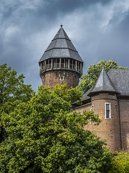 Castle, Linn, Fortress, Krefeld, Middle Ages, Knight