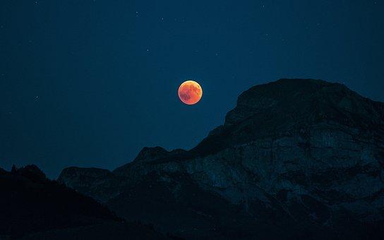 Moon, Blood Moon, Lunar Eclipse, Night, Moonlight
