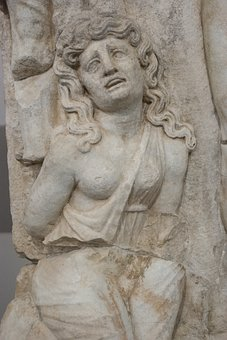 Sculpture, On, Art, Marble, Woman, The Story, Rome