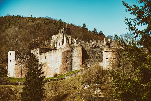 Castle, Knight's Castle, Fortress, Ruin, Middle Ages