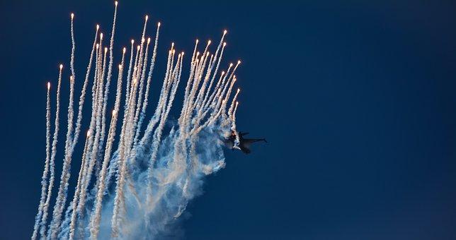 Aircraft, Military, Jet, Flight, Hunting, Flare