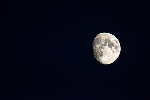 Moon, Sky, After, Night, Lunar, Astronomy, Moonlight