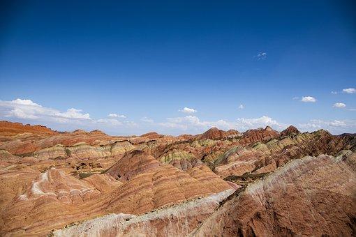 Desert, Danxia, Landscape, Mountain, Canyon, Earth