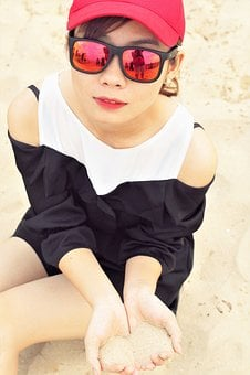 Girl, Beach, Vietnam, Sunshine, Woman, Summer, Nature