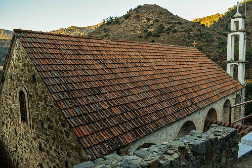 Roof, Church, Old, Architecture, Stone, Kalopanayiotis