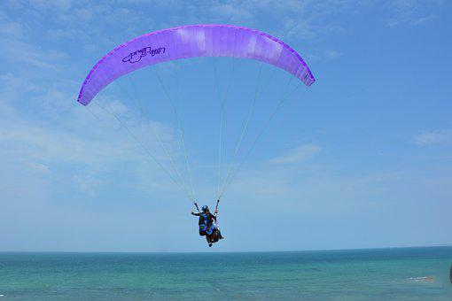 Paragliding, Paraglider, Veil Purple