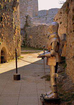 Armor, Castle, Puglia, Protection, Knight, Old