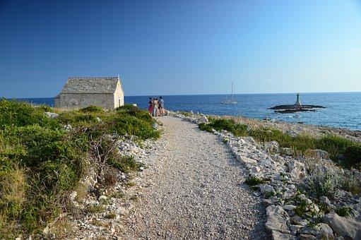 Croatia, Fjord, Island, Lighthouse, Punta Plank Of