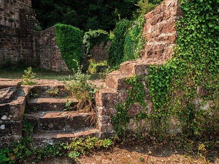 Ruin, Burgruine, Castle Wall, Masonry, Old