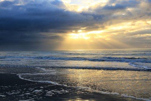 Sunrise, Morning, Beach, Sea, Calm, Tranquil, Serenity