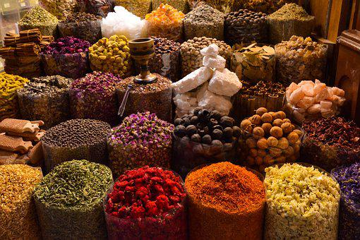 Spices, Souks, Souk, Bazaar, Arabic, Dubai, Colorful