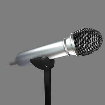 Microphone, Mic, Mike, Voice, Audio, Music, Sound