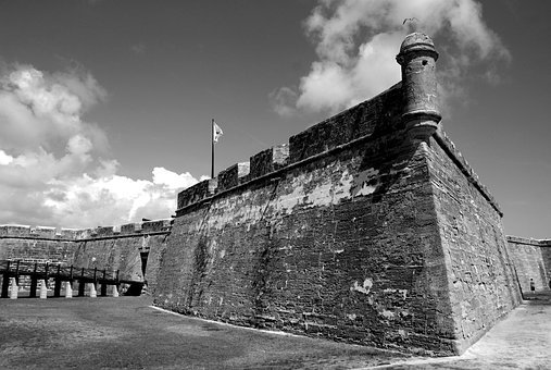 Castle Of San Marcos, Historic, Fortress, St, Augustine