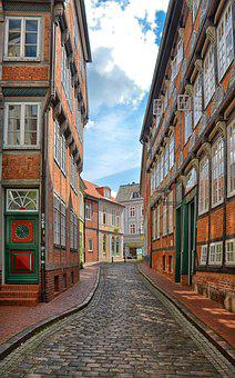 Stade, Houses, Architecture, Building, Germany