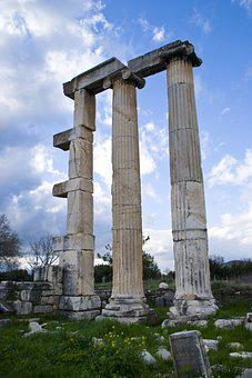 On, Column, Architecture, Ancient, Stone, Date, Classic